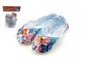 Balerínky/boty pro dívky látkové 18cm v sáčku