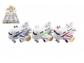 Letadlo plast na setrvačník 11cm 3 barvy (1 ks) 18m+