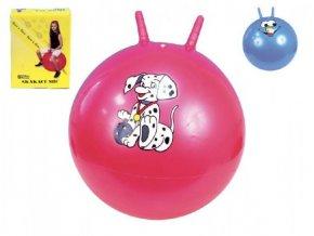 Skákací míč s úchyty 50cm 4 barvy v krabici 16x20cm