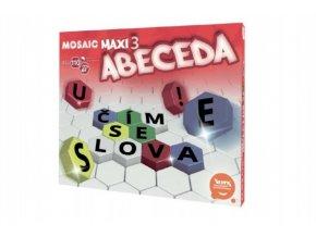 Mozaika Mosaic Maxi 3 (Abeceda - CZ) 110ks v krabici 35x29x7,5cm