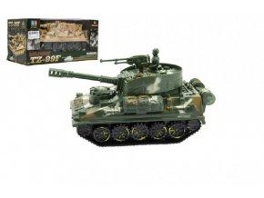 Tank plast 25cm na baterie se světlem se zvukem 2 barvy v krabici 27,5x21x15cm