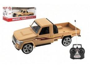 Auto RC pick up plast 30cm na baterie se světlem v krabici 42x15x16cm