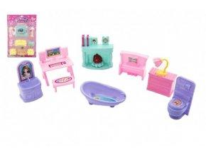 Nábytek pro panenky plast 2 druhy na kartě