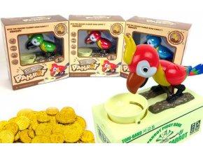 Hladový papoušek - POKLADNIČKA (Barva Zelená)