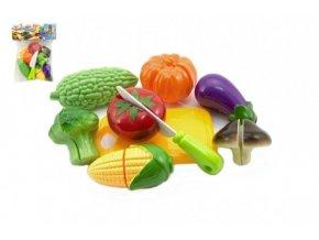 Krájecí ovoce a zelenina s nádobím plast 9ks v sáčku 19x25cm