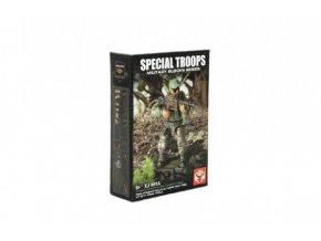 Stavebnice vojáci plast Speciální jednotka 8 druhů 1ks s doplňky v krabičce 8x11,5x3cm (1 ks)