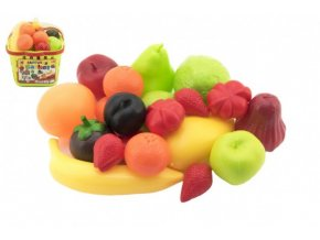 Nákupní košík ovoce/zelenina plast 18x16x19cm v síťce