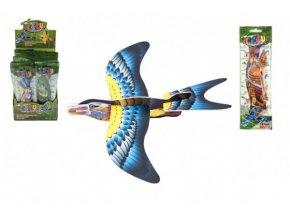 Letadlo házecí skládací pták pěna 18cm mix barev v sáčku (1 ks)