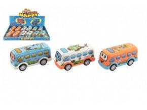 Autobus pro nejmenší plast 10cm na setrvačník 3 barvy (1 ks)