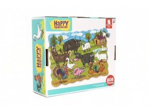 Puzzle farma domácí 64x90cm 208ks v krabici 28x24x9cm