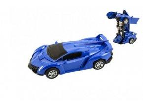 Transformer auto/robot plast 14cm na setrvačník 4 barvy (1 ks)
