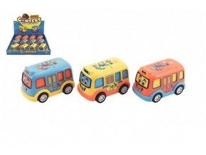 Autobus pro nejmenší plast 8cm na setrvačník 3 barvy (1 ks)