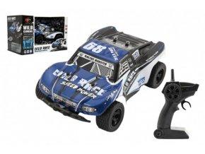 Auto RC buggy plast 22cm 24MHz na baterie modré v krabici 31x20x17cm