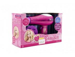 Fén na vlasy plast 18cm na baterie se světlem se zvukem v krabici 26x16x9cm