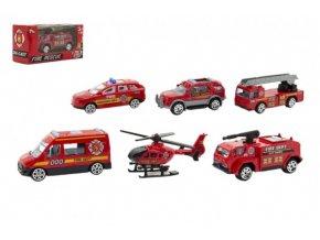 Auto/helikoptéra kov/plast 7cm 6 druhů v krabičce 11x5x4cm (1 ks)