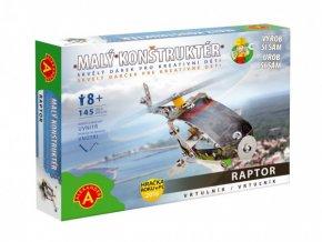 Malý konstruktér vrtulník Raptor kov 145ks stavebnice v krabici 23x17x3,5cm