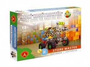Malý konstruktér ještěrka Store Master kov 143ks stavebnice v krabici 23x17x3,5cm