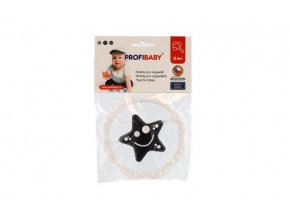 Chrastítko plast kruh 12cm 2 druhy černobílé v sáčku 0m+