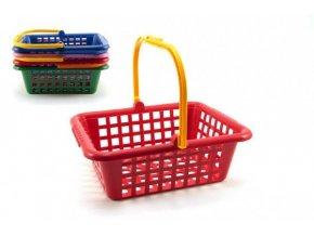 Nákupní košík plast 30x11x27cm asst 4 barvy 12m+ skladem
