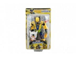 Robot bojovník plast 17cm 5 druhů na kartě