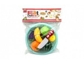 Ovoce a zelenina krájecí plast v košíku 18cm 2 druhy v sáčku