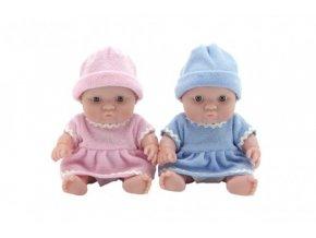 Miminko panenka pevné tělo plast 20cm 2 barvy (1 ks)