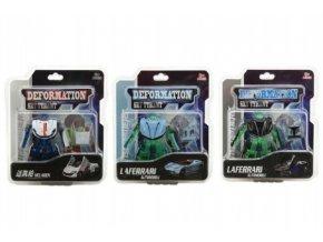 Transformer auto/robot plast/kov 8cm 4 barvy na kartě (1 ks)