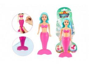 Mořská panna na klíček plast do vody 18cm na kartě