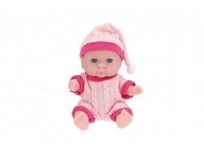 Miminko panenka plast pevné tělo 14cm 6 druhů v krabičce 8,5x11x6,5cm