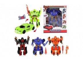 Transformer auto/robot plast 20cm 4 druhy v krabici 24x28x7cm