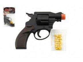 Pistole/Revolver na kuličky plast 14cm v sáčku