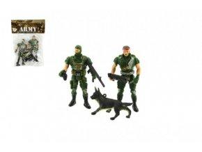 Sada vojáci s doplňky plast CZ design na kartě 11,5x16cm