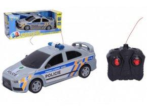 Auto RC Policie ČR plast 23cm 27 MHz na baterie v krabici 32x12,5x13cm