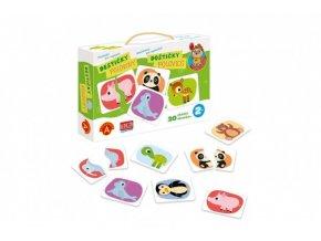 Poznávání pro nejmenší - Destičky Poloviny naučná hra v krabici 28x19x5cm