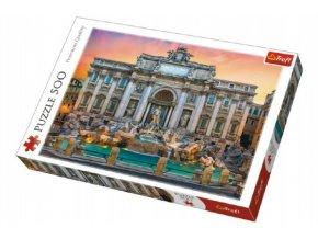 Puzzle Fontanna di Trevi, Řím 500 dílků