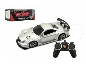 Auto RC sport na dálkové ovládání 25cm plast na baterie se světlem 2 barvy v krabici