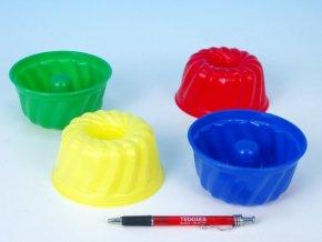 Formičky Bábovky kulatá plast 12x7cm asst 4 barvy skladem