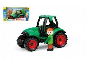 Auto Truckies traktor plast 17cm s figurkou v krabici 24m+