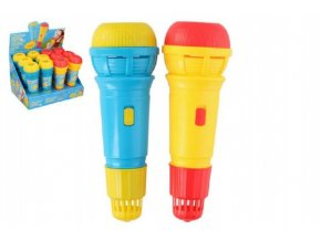 Mikrofon s ozvěnou plast 24cm asst 2 barvy (1 ks)
