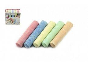 Křídy barevné chodníkové 10,5x2,5x2,2cm 15ks skladem