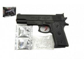 Pistole na vodní kuličky 7-8mm plast 18cm v krabičce 19x12x3,5cm