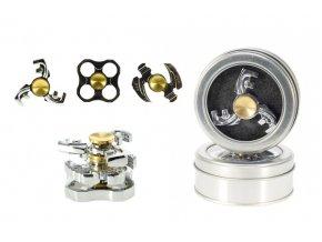 Fidget Spinner kov asst 3 druhy v plechové krabičce 9x9x2cm