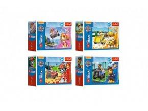 Puzzle miniMAXI 20 dílků Tlapková Patrola/Tlapková patrola 4 druhy v krabičce 11x8x4cm (1 ks)