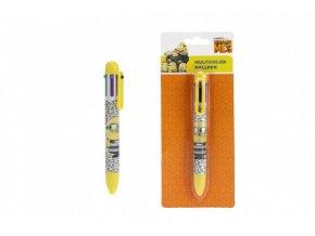 Tužka/pero plast 6 barev 14cm na kartě
