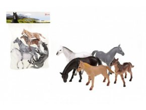 Kůň 5ks plast 12-16cm v sáčku