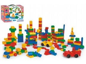 Kostky stavebnice Mini Blocks plast 300ks v krabici 40x30x15cm Wader