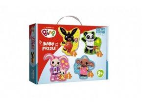 Puzzle baby Bing Bunny a přátelé v krabici 27,5x19x6cm 24m+