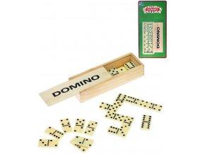 domino 28ks v drevene krabicce na karte