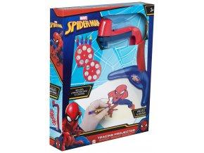 projektor na kresleni s predlohami spiderman