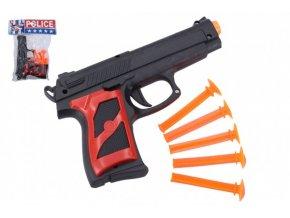 Pistole + přísavky 5ks plast 16cm v sáčku